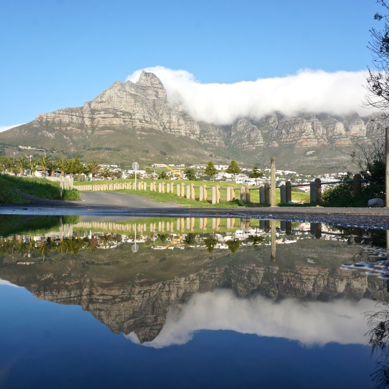 Reflection of Table Mountain, South Africa by Belinda Jiao Photography